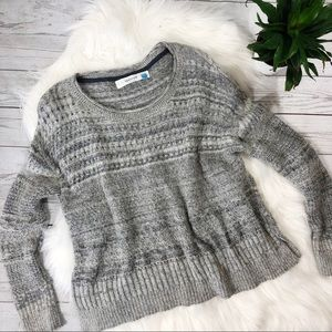 Sparrow Anthro Marled Wool Cashmere Gray Sweater
